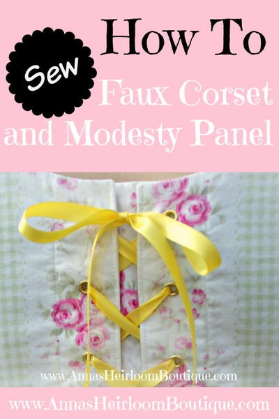 How to Sew a Faux Corset