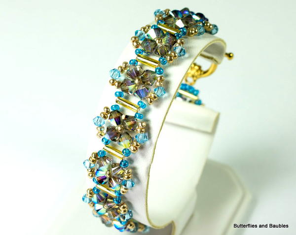 Crystal Right Angle Weave Bracelet
