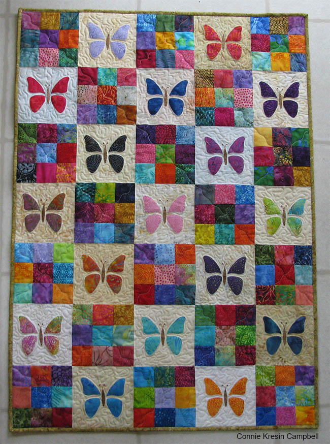 Scrappy Butterfly Baby Quilt Tutorial Favequilts Com