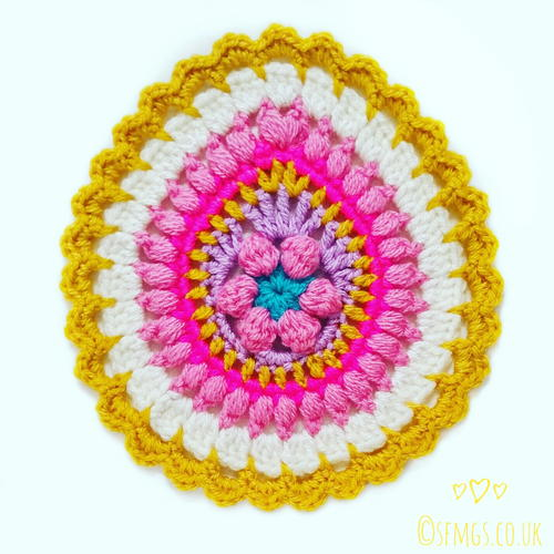 Easter Egg Crochet Mandala