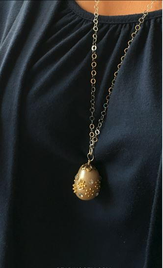 Faberge Inspired Easter Egg Pendant Tutorial