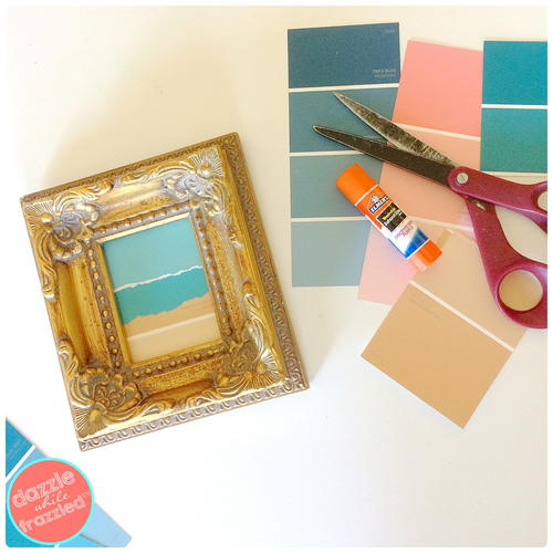 DIY Easy Paint Chip Beach Art