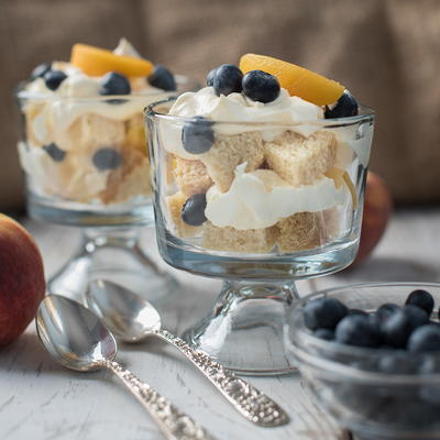 Peach Blueberry Trifle