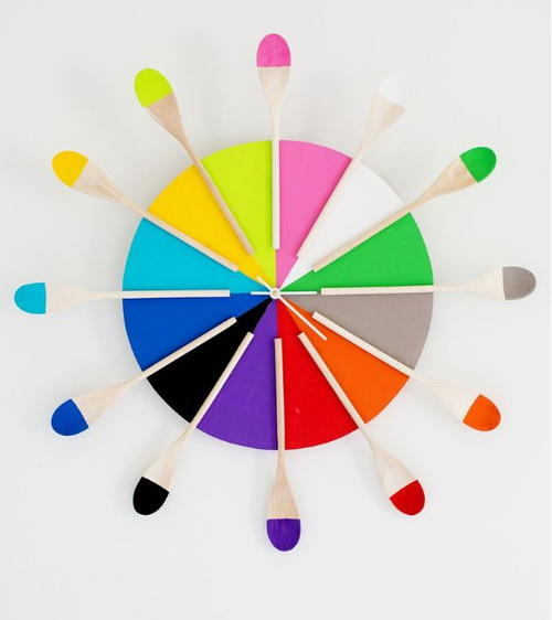 Colorful Kitchen Cool Clock Design DIYIdeaCentercom