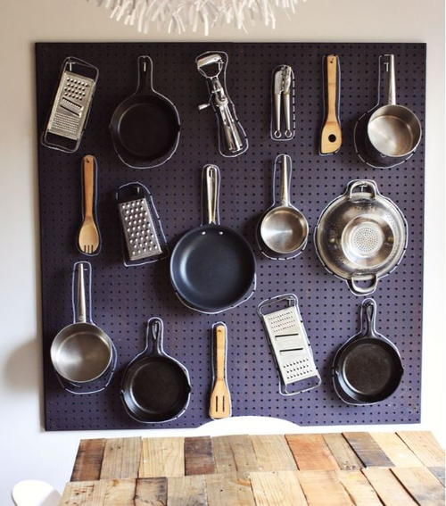 Julia Child Inspired DIY Pegboard