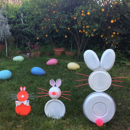 Easter Bunny Family Lawn Decoration