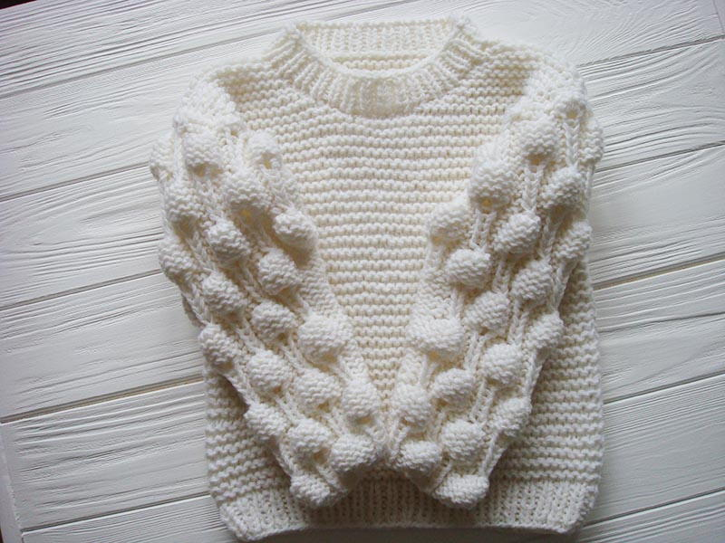 Knitting 3 Stitch Bobble : Oversized Bobble Sweater AllFreeKnitting.com