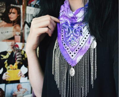Gorgeous Embellished DIY Bandana