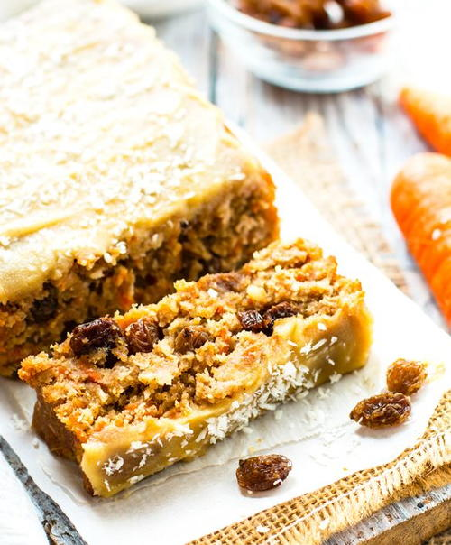 Vegan and Gluten Free Carrot Cake Loaf