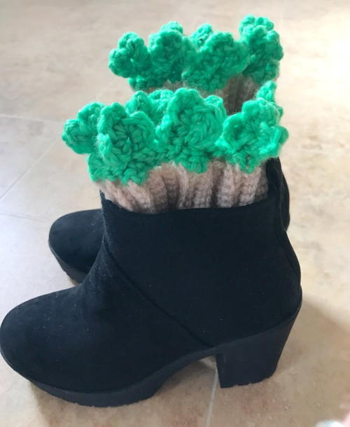 Shamrock Edged Boot Cuff Pattern