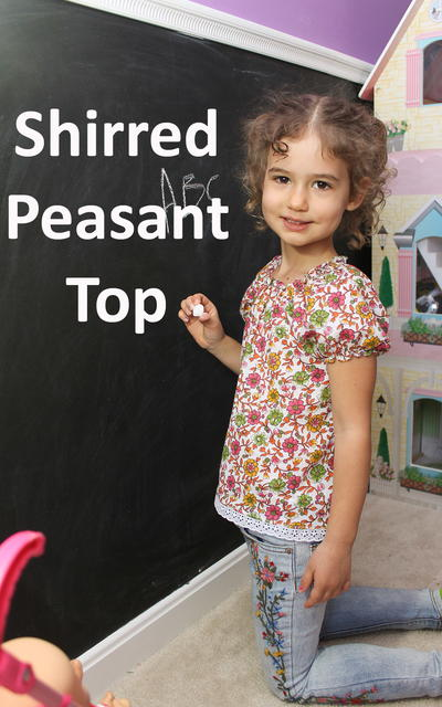 Shirred Peasant Top