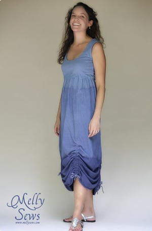Bohemian Ruched Ombre Dress