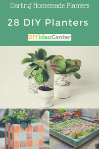 Darling Homemade Planters: 28 DIY Planters