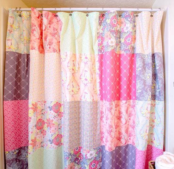 Fat Quarter Patchwork Shower Curtain Favequilts Com