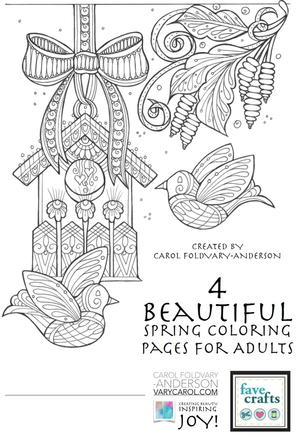 4 Beautiful Spring Coloring Pages For Adults Favecrafts Com