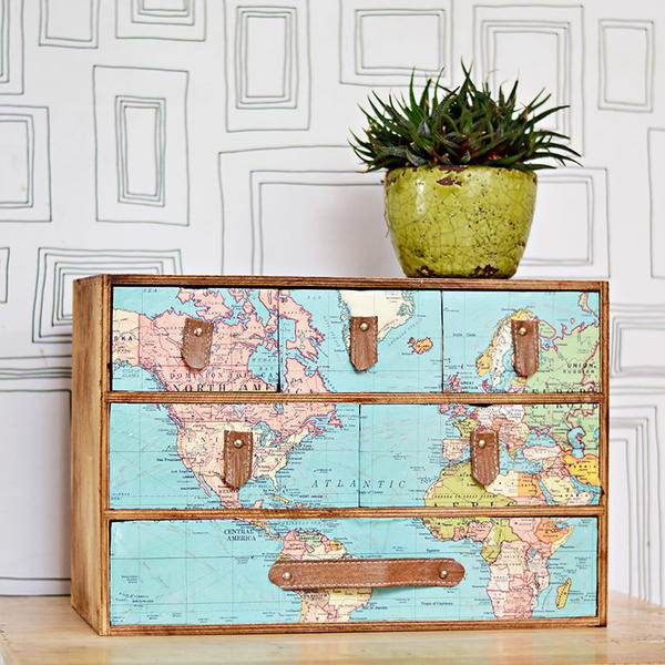 Wanderlust Global Drawers IKEA Hack