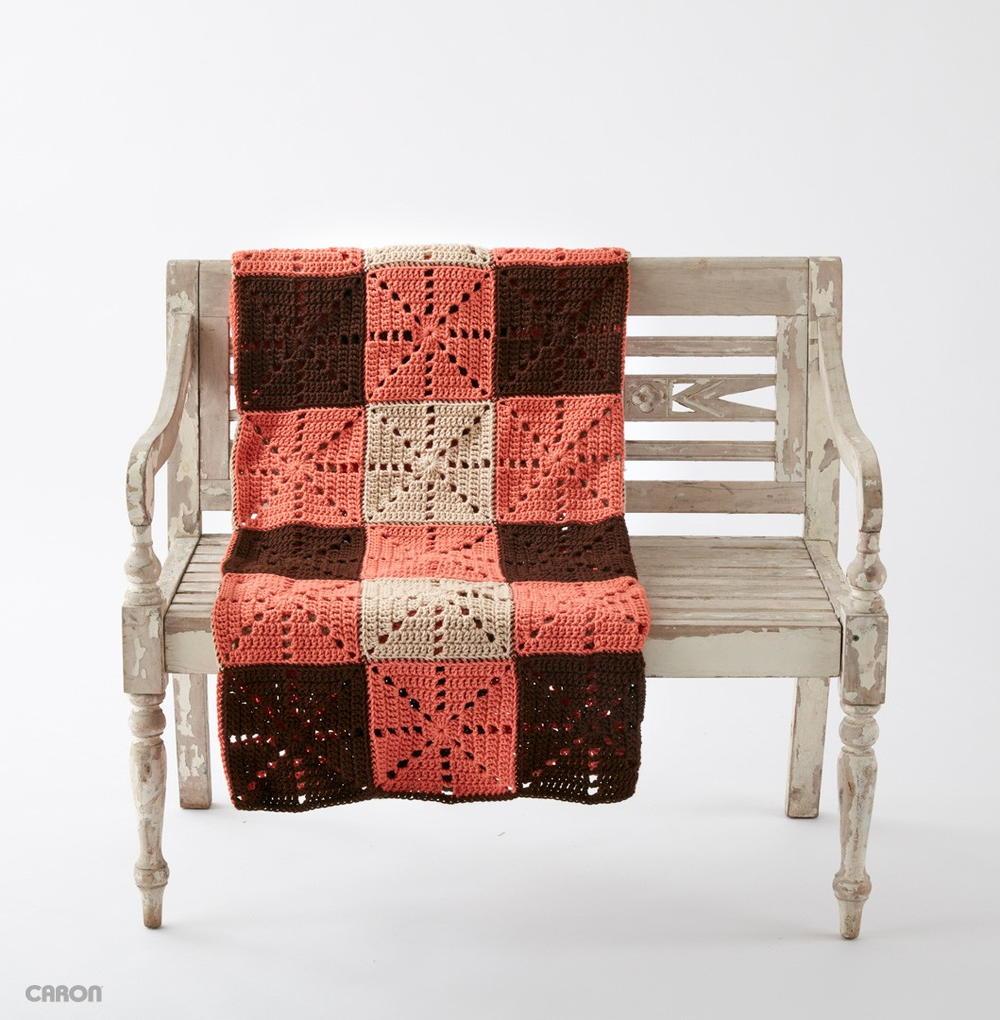 Square Dance Crochet Blanket