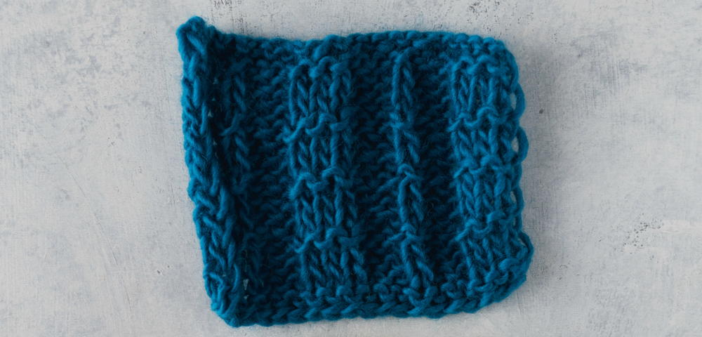 Knitting Rib Stitch For Beginners : How to Knit the Pique Rib Stitch AllFreeKnitting.com