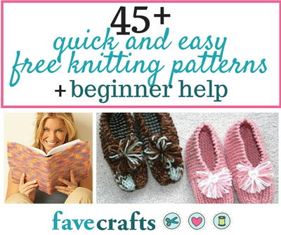 45 Easy Free Knitting Patterns for Beginners | FaveCrafts com