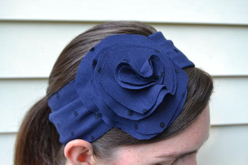 Easy Flower Headband