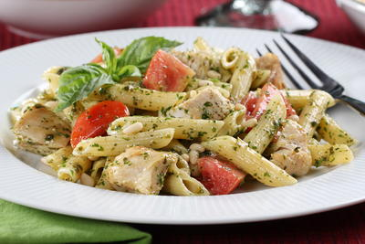 Chicken and Pesto Pasta Salad