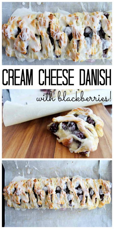 Blackberry Cream Cheese Danish
