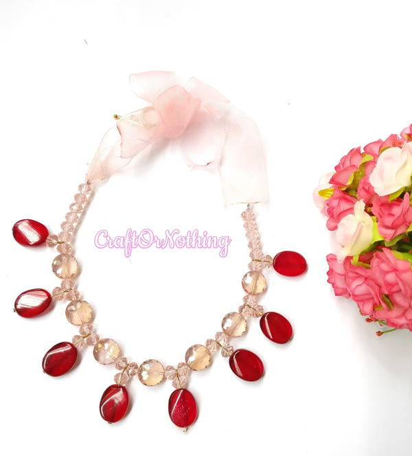 Pretty Pomegranate Inspired Necklace