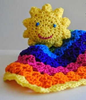 Rainbow Sunshine Lovey Blanket