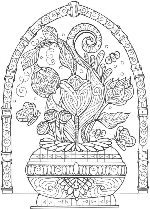 large coloring pages for adults - photo#33