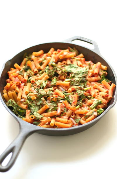 Sweet Tomato  Broccoli Rabe Baked Penne