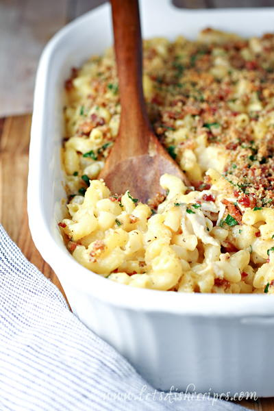 Bacon Ranch Baked Mac and Cheese