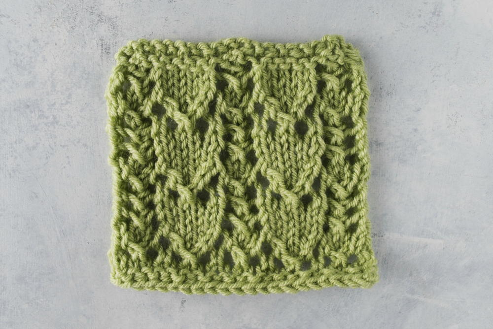 Knitting Stitches Easy : How to knit the snowdrop lace stitch allfreeknitting
