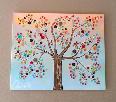 Beautiful Button Tree Art