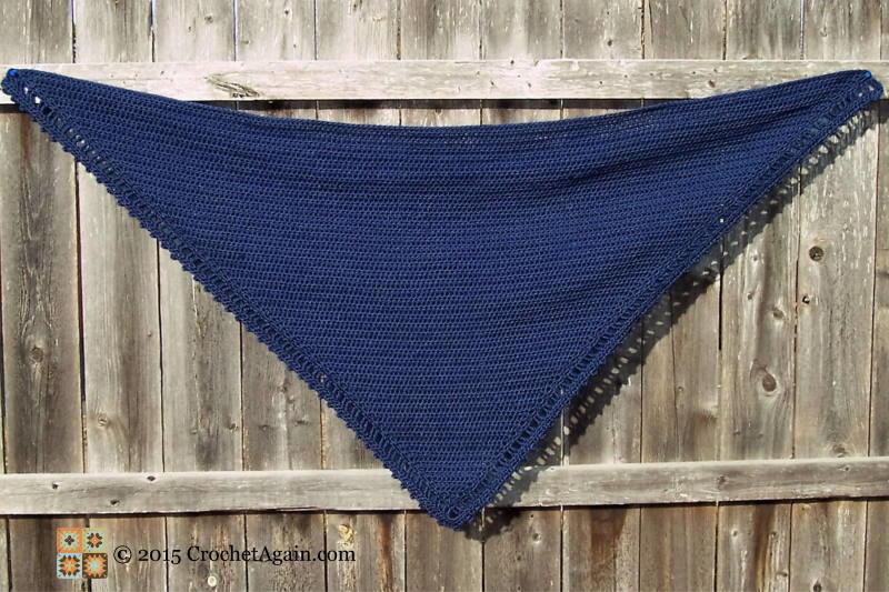 A Simple Crochet Shawl Allfreecrochet Com