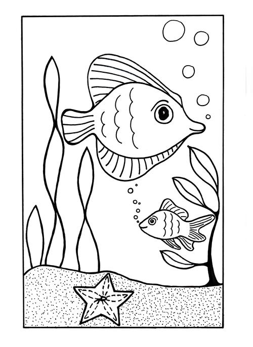 Under the Sea Coloring Page AllFreeKidsCrafts