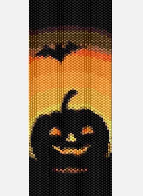 Spooky Halloween Peyote Stitch Pattern