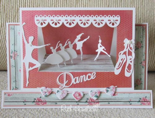 Floral Dreamy Dance Stage Card