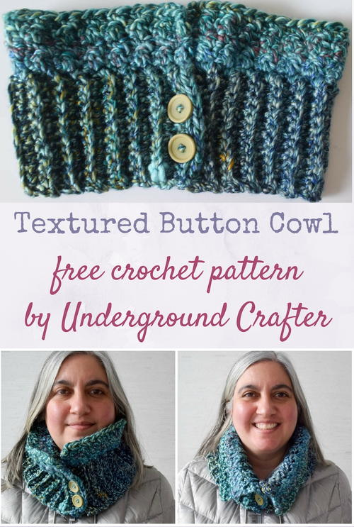 Textured Button Cowl