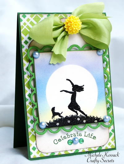 Air Brushed Silhouette Card