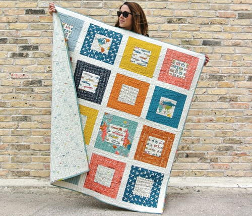 Bon Voyage Throw Quilt Pattern