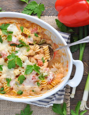 Dump-and-Bake Cajun Chicken Pasta