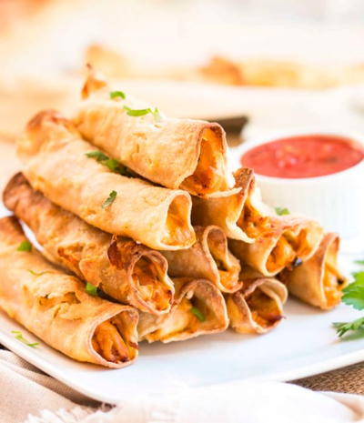 Cheesy Gluten Free Chicken Taquitos
