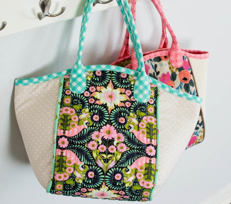 Spring Diy Basket Tote Pattern Allfreesewing Com
