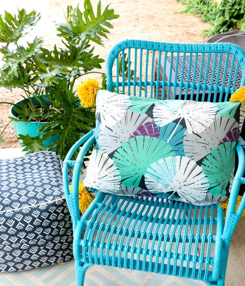 Easy Sew Outdoor Pillow
