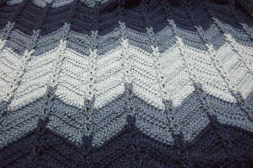 Jacobs Ladder Ripple Afghan