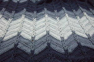 Jacob's Ladder Ripple Afghan