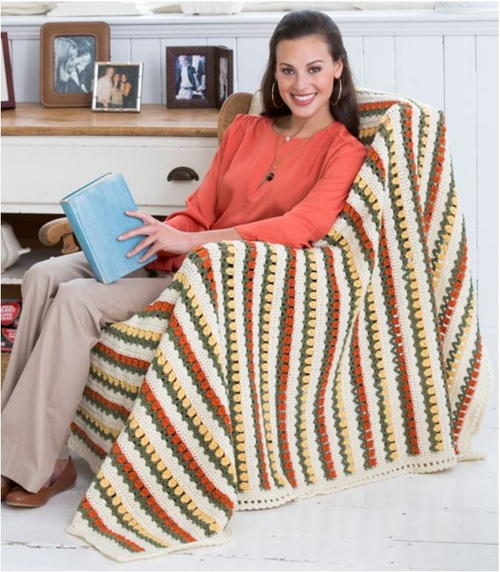 Tulip Lane Crochet Afghan Pattern