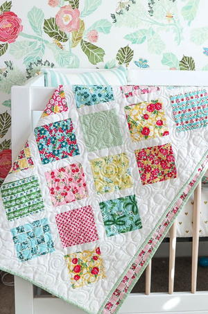 Springtime Lattice Baby Quilt Tutorial