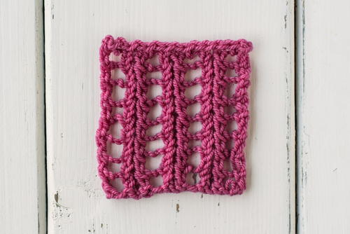 How to Knit the Feathered Ladder Stitch