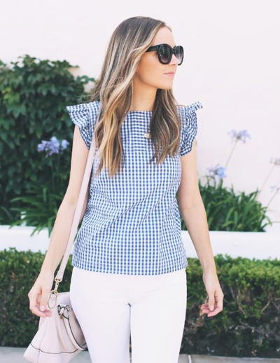 Summer Gingham DIY Top